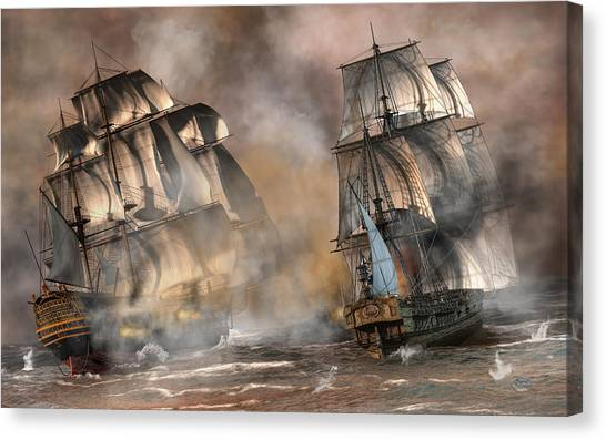 Pirate Battle Canvas Print