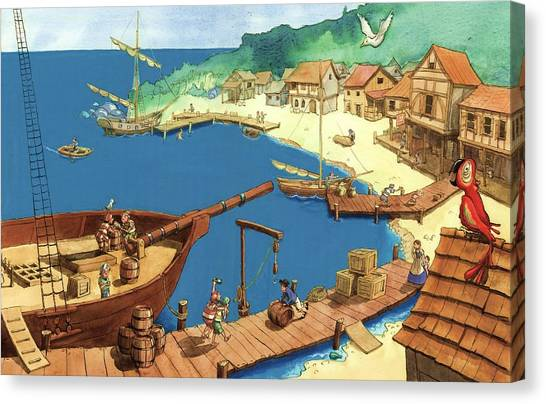 Pirate Port Canvas Print