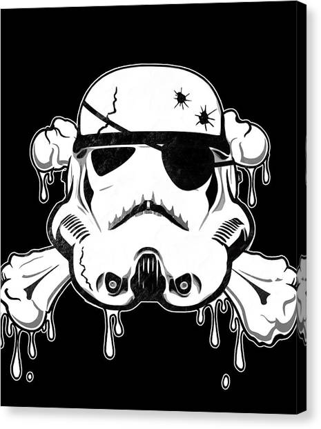 Skulls Canvas Print - Pirate Trooper by Nicklas Gustafsson