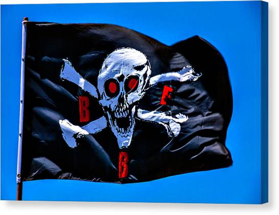 Sly Canvas Print - Pirate War Flag by Garry Gay