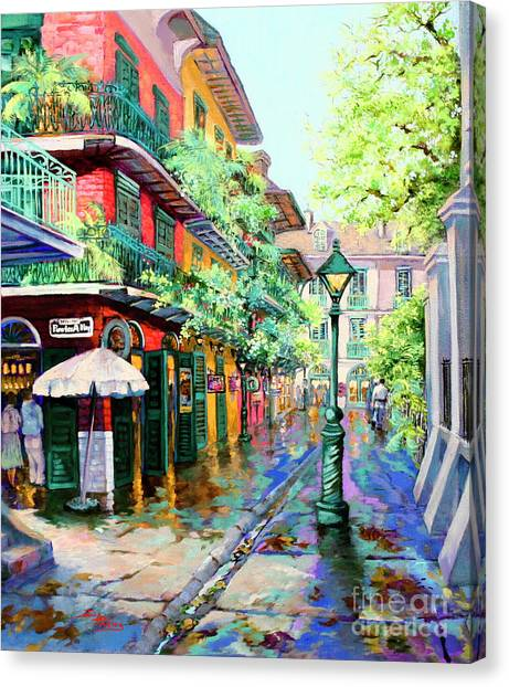 Louisiana Canvas Print - Pirates Alley - French Quarter Alley by Dianne Parks