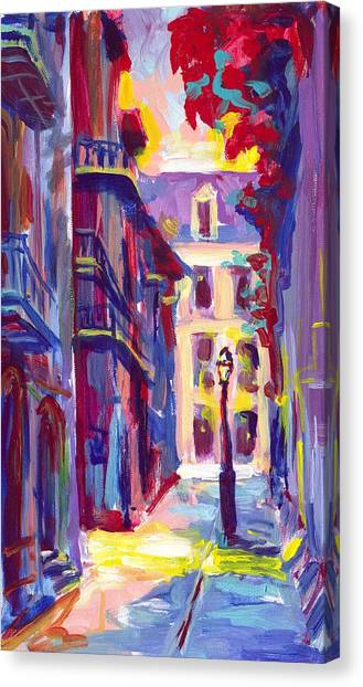 Pirates Alley New Orleans Canvas Print by Saundra Bolen Samuel