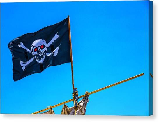 Sly Canvas Print - Pirates Death Black Flag by Garry Gay
