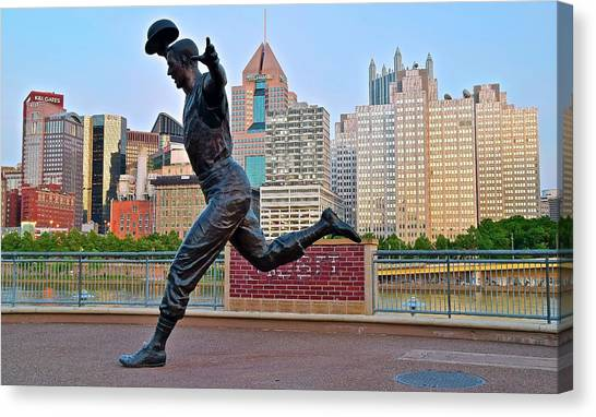 Pittsburgh Pirates Canvas Print - Pirates Legend And City by Frozen in Time Fine Art Photography