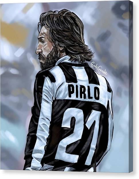 Diego Maradona Canvas Print - Pirlo by Mounir Meghaoui
