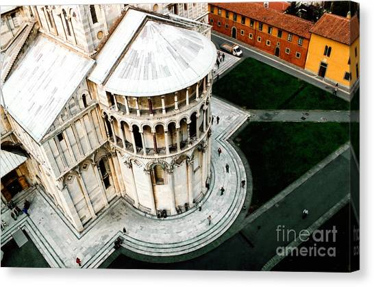 Pisa From Above Canvas Print by Linda  Parker