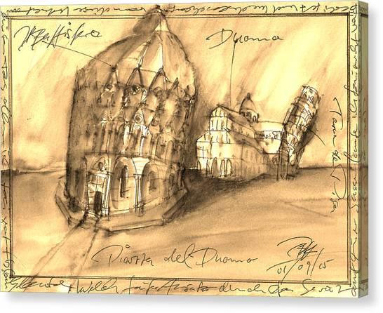Pisa Canvas Print by Joerg Bernhard Klemmer