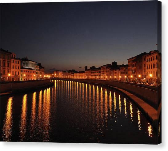 Pisa's Arno Canvas Print