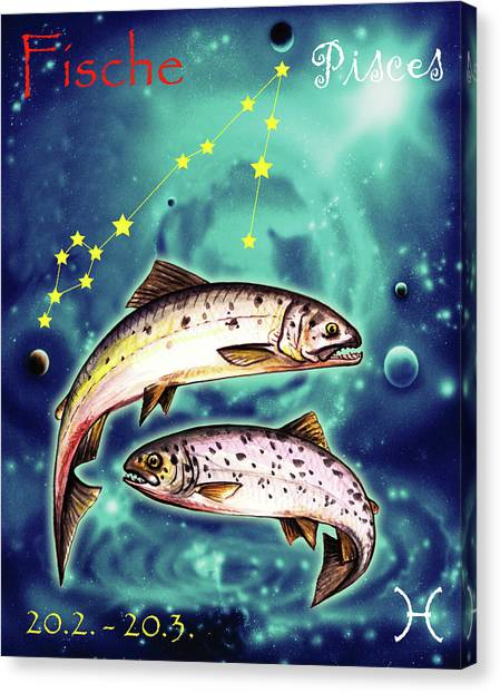 Canvas Print - Pisces In The Sky by Johannes Margreiter
