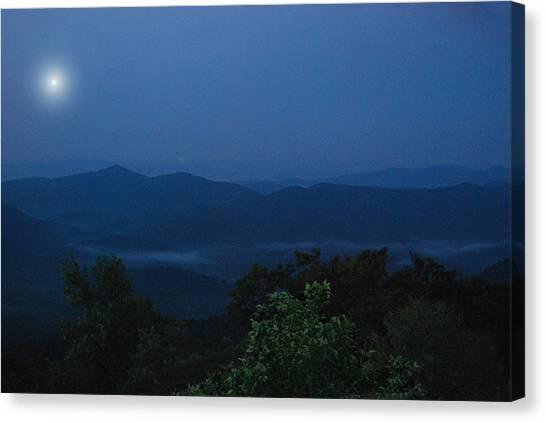 Pisgah National Forest Canvas Print - Pisgah At Night by Patricia Motley