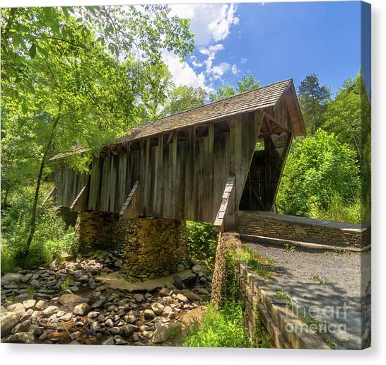 Little Things Canvas Print - Pisgah Covered Bridge by Norma Brandsberg