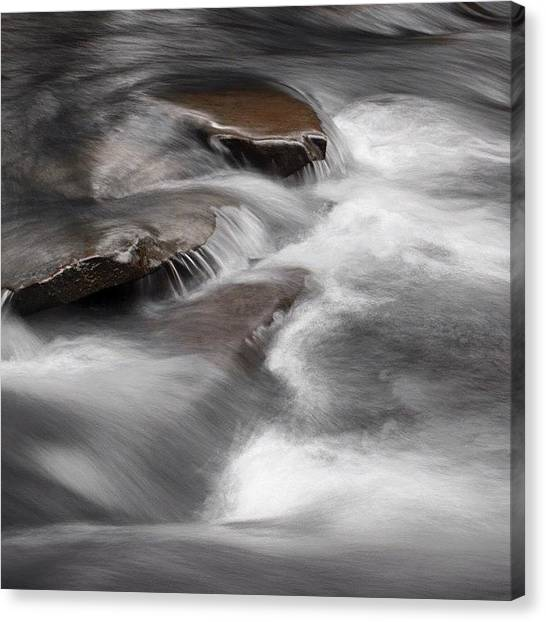 Waterfalls Canvas Print - Pisgah Gorge Cascade by Dave Edens