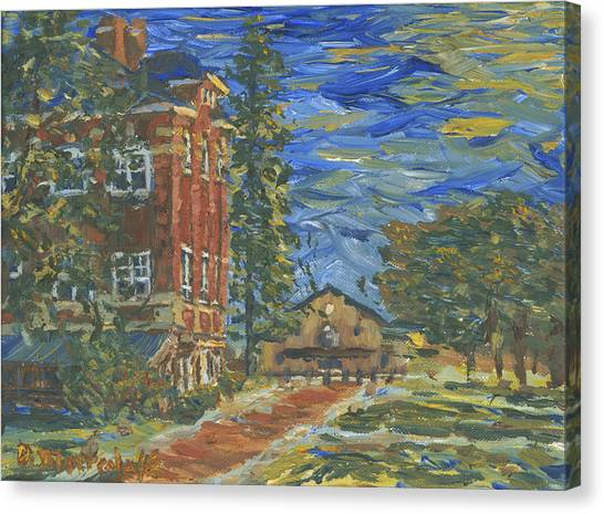 Piskor Hall On An August Evening Canvas Print