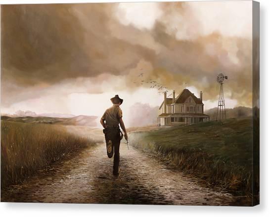 Cloudy Canvas Print - Un Pistola by Guido Borelli