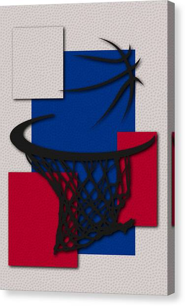 Detroit Pistons Canvas Print - Pistons Hoop by Joe Hamilton