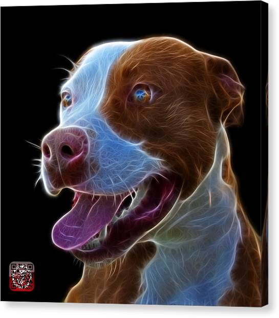 Pit Bull Fractal Pop Art - 7773 - F - Bb Canvas Print