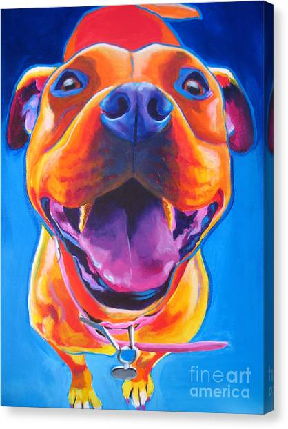 Pit Bull Canvas Print - Pit Bull - Lots To Love by Alicia VanNoy Call