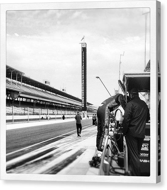 Panthers Canvas Print - Pit Lane by Katie List