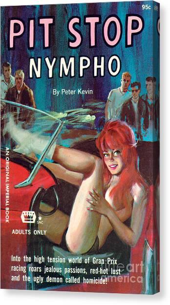 Pit Stop Nympho Canvas Print