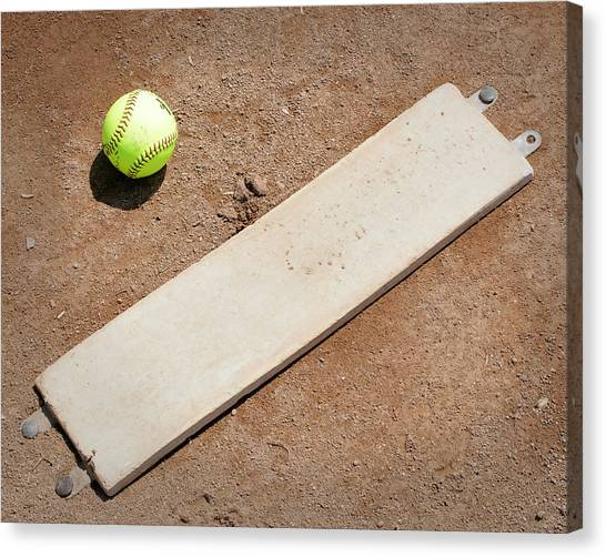 Softball Canvas Print - Pitchers Mound by Kelley King