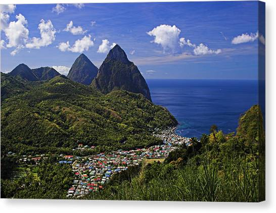 Pitons St Lucia Canvas Print