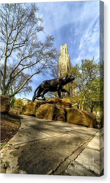 Pitt Panther Cathedral Of Learning Canvas Print