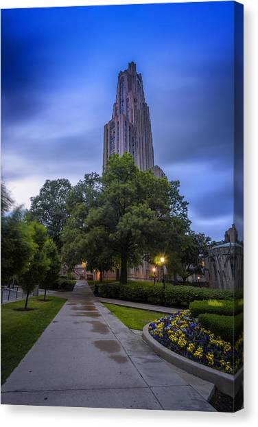 University Of Pittsburgh Canvas Print - Pitt by Rick Berk