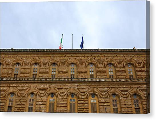 The Uffizi Gallery Canvas Print - Pitti Palace, Florence by Davide Guidolin
