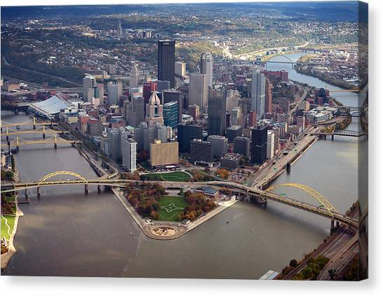 Pittsburgh 8 In Color  Canvas Print