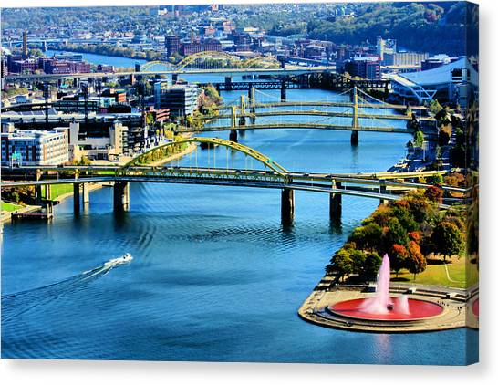 Pittsburgh At The Point Canvas Print