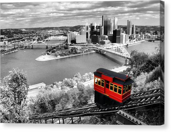 Pittsburgh Pirates Canvas Print - Pittsburgh From The Incline by Michelle Joseph-Long