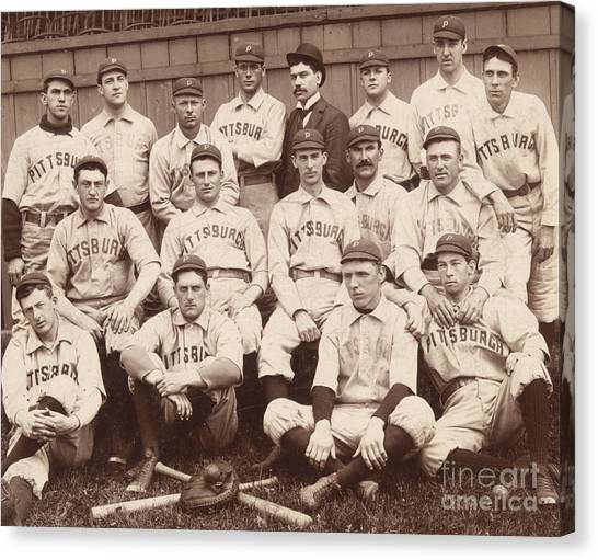 Pittsburgh Pirates Canvas Print - Pittsburgh National League Baseball Team by American School