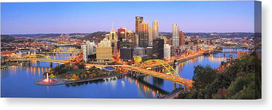 Pittsburgh Pirates Canvas Print - Pittsburgh Pano 22 by Emmanuel Panagiotakis