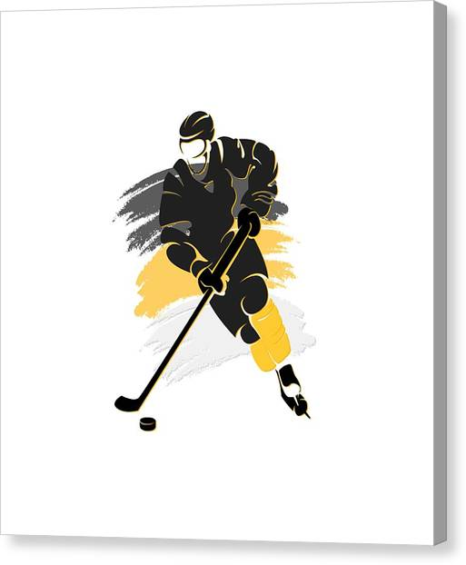 Pittsburgh Penguins Canvas Print - Pittsburgh Penguins Player Shirt by Joe Hamilton