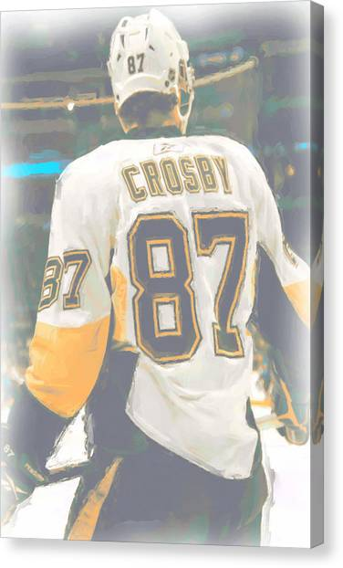 Pittsburgh Penguins Canvas Print - Pittsburgh Penguins Sidney Crosby by Joe Hamilton