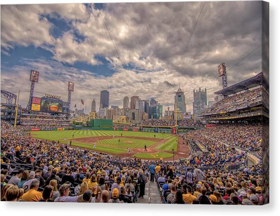 Pittsburgh Pirates Canvas Print - Pittsburgh Pirates 1a Pnc Park by David Haskett II