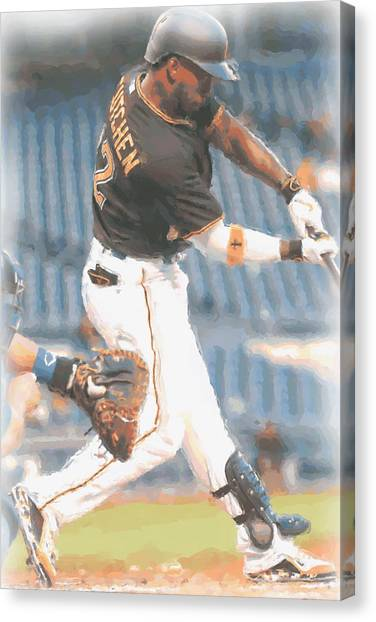 Pittsburgh Pirates Canvas Print - Pittsburgh Pirates Andrew Mccutchen 2 by Joe Hamilton