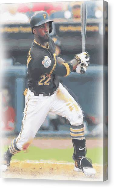 Pittsburgh Pirates Canvas Print - Pittsburgh Pirates Andrew Mccutchen 3 by Joe Hamilton