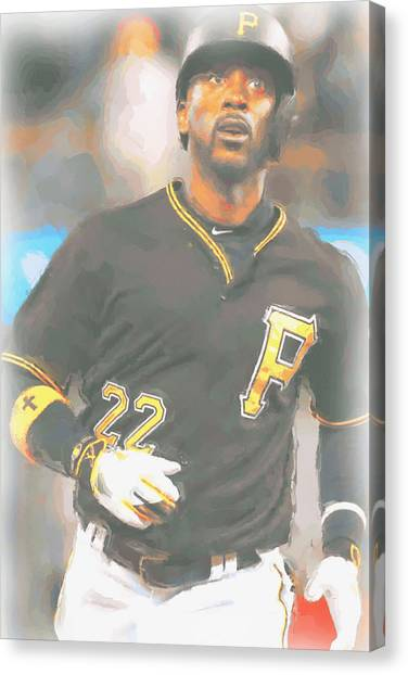 Pittsburgh Pirates Canvas Print - Pittsburgh Pirates Andrew Mccutchen 4 by Joe Hamilton