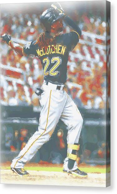 Pittsburgh Pirates Canvas Print - Pittsburgh Pirates Andrew Mccutchen 5 by Joe Hamilton