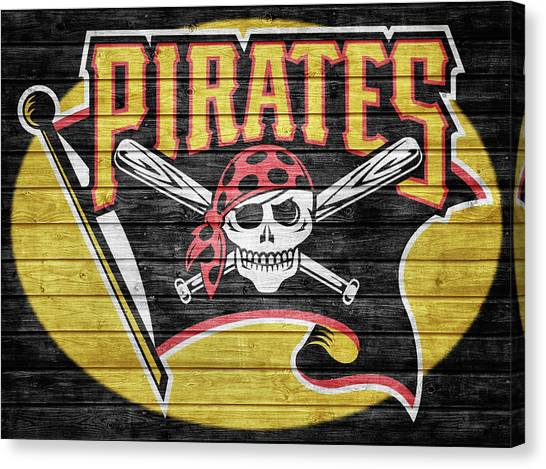 Pittsburgh Pirates Canvas Print - Pittsburgh Pirates Barn Door by Dan Sproul