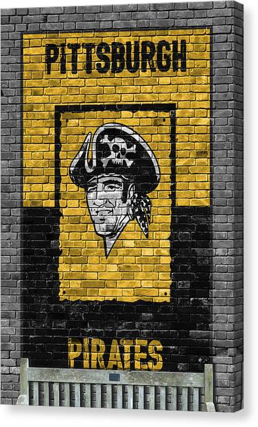Pittsburgh Pirates Canvas Print - Pittsburgh Pirates Brick Wall by Joe Hamilton