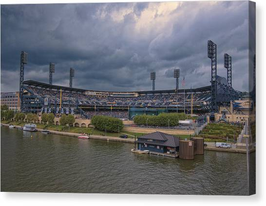 Pittsburgh Pirates Canvas Print - Pittsburgh Pirates Pnc Park B by David Haskett II