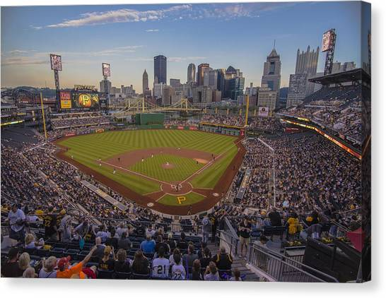 Pittsburgh Pirates Canvas Print - Pittsburgh Pirates Pnc Park X6 by David Haskett II