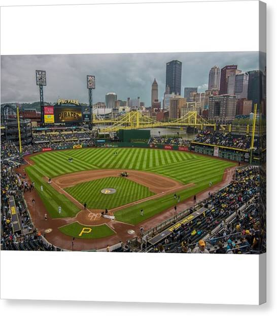 Baseball Canvas Print - #pittsburgh #pittsburghpirates by David Haskett II