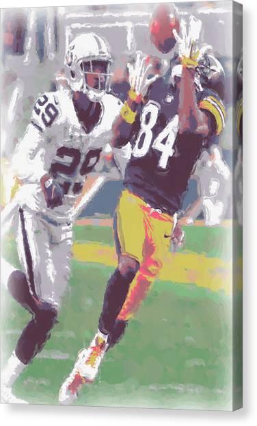 Pittsburgh Steelers Canvas Print - Pittsburgh Steelers Antonio Brown 1 by Joe Hamilton