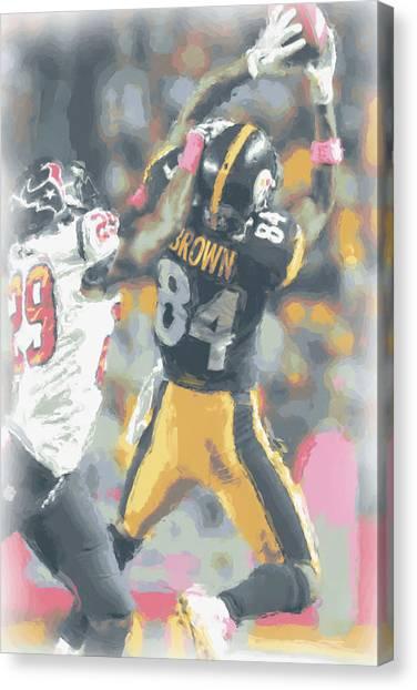 Pittsburgh Steelers Canvas Print - Pittsburgh Steelers Antonio Brown 2 by Joe Hamilton