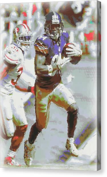 Pittsburgh Steelers Canvas Print - Pittsburgh Steelers Antonio Brown 3 by Joe Hamilton