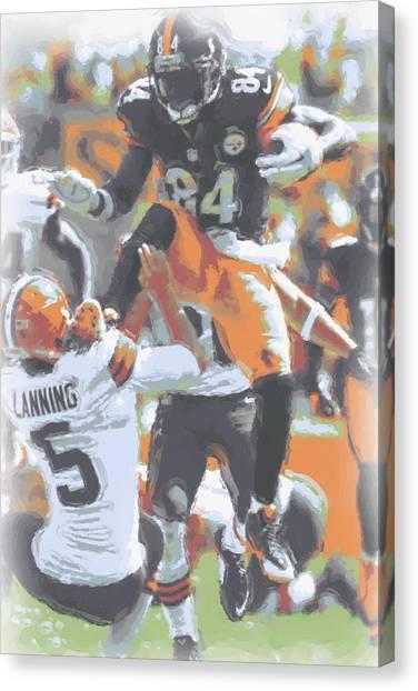 Pittsburgh Steelers Canvas Print - Pittsburgh Steelers Antonio Brown 4 by Joe Hamilton