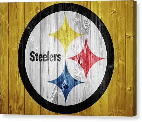 Superbowl Canvas Print - Pittsburgh Steelers Barn Door by Dan Sproul